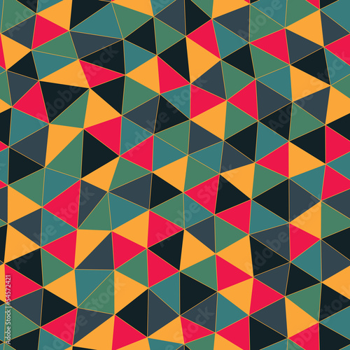 Geometric pattern. Texture with triangles.Mosaic. Abstract hand-