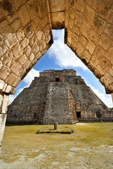 Great Pyramid of Uxmal Yucatan Mexico