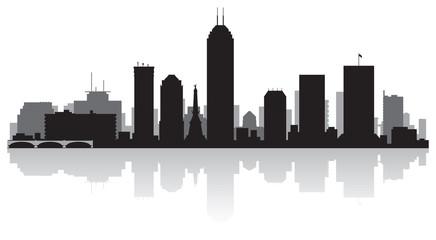 Indianapolis city skyline silhouette