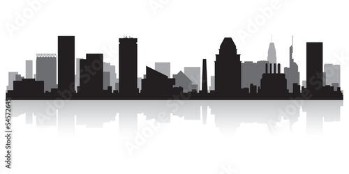 Baltimore city skyline silhouette