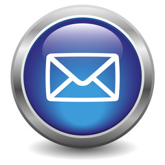E-mail glossy icon blue