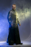 Matrix Style Role Play Character Adult Man in Trench Coat