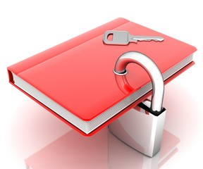 the red book with a lock