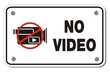 no video rectangle sign
