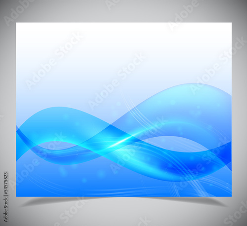 Smooth colorful abstract glowing background