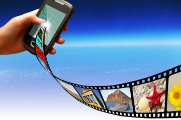 Smartphone pellicola e fotogrammi