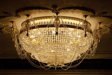 Chandeliers, lamps, large, beautiful