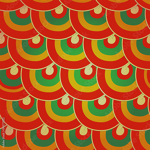 Seamless Japanese pattern, Colorful decorative seamless