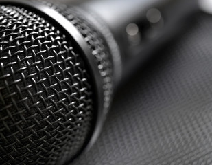 Microphone close up
