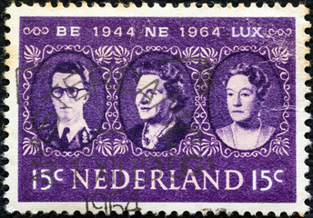 King, Queen and Grand Duchess of Benelux (Netherlands 1964)