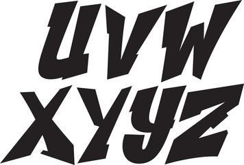 vector graffiti font alphabet part 3