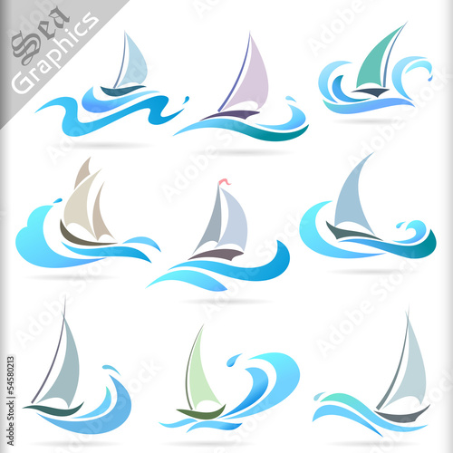 Sea Graphics Series - Sailing Ship Icons