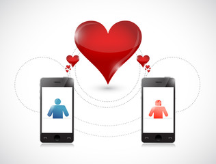 phone . online dating graphic concept.