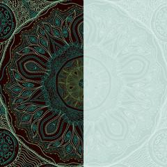 Decorative Vintage Design Element, illustration with lacy frame