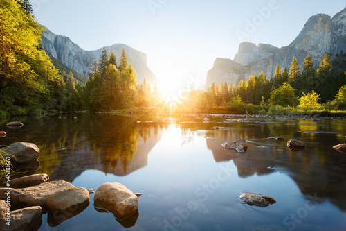 Foto op Canvas Natuur Park Yosemite valley