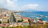 Panoramic view of Naples from Posillipo