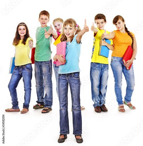 Group of teen people.
