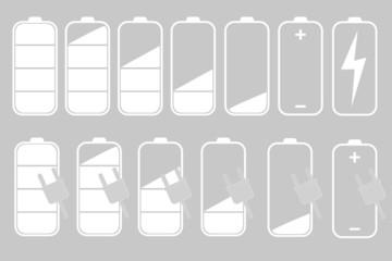 symbols of battery level indicator