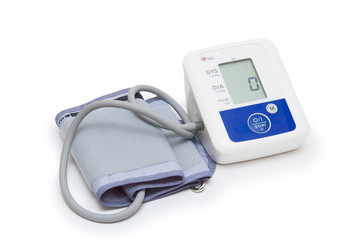 Digital blood pressure meter with love heart symbol