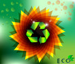Floral Abstract Eco Ecological Recycle Flower