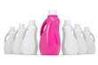 Series plastic bottles of household chemicals