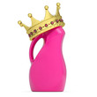 Crown on plastic bottle of household chemicals