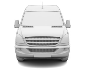 Sketch white van