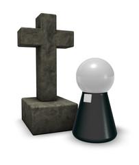 pastor and christian cross