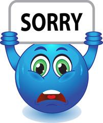 Синий смайлик извиняется