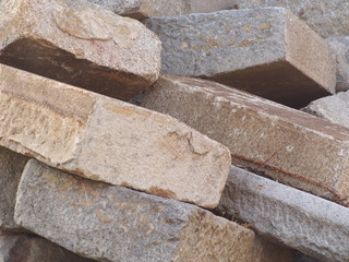 Steinplatten für den Straßenbau