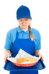 Teen Worker Disgusted by Fastg Food