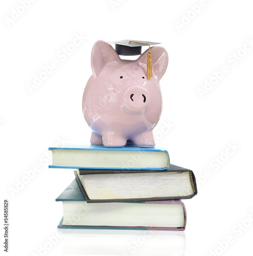 books and piggy
