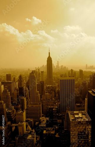 Fototapeten,new york,skyscraper,anblick,sonne