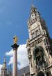 Marienplatz and City Hall of Munich