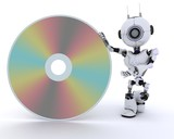 Robot with a dvd
