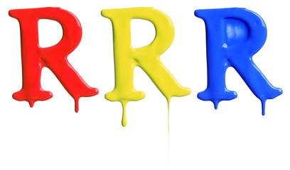 Paint dripping alphabet © Leigh Prather