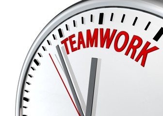 Teamwork clock