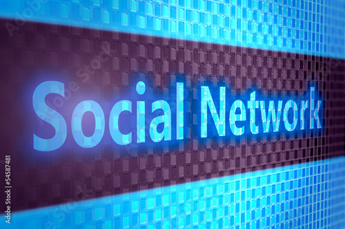 social network on digital screen