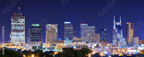 Downtown Nashville, Tennessee, USA Panorama