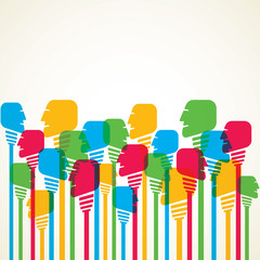 colorful people background vector