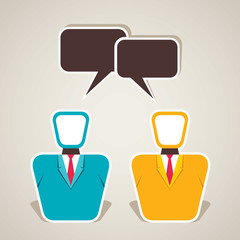 businessmen communication vector