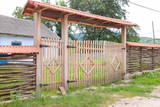wooden rustic fence