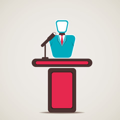 speaker or lecturer icon vector