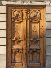 vecchia porta di legno ,Valencia,Spagna