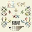 Soccer infographic, Vector illustration