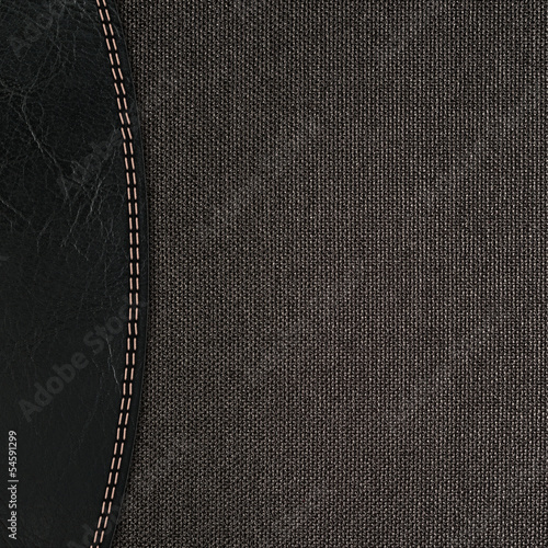 stitched leather background red and brown colors