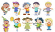 Children Playing - Vector Illustrations