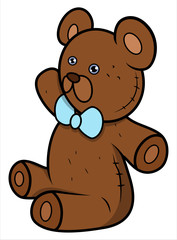 Teddy Bear - Cartoon Vector Illustration