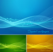 Shiny color waves background