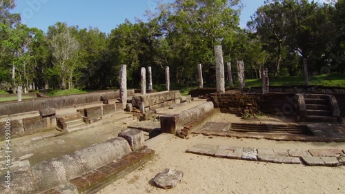 Ruins of an ancient monastery. Sri Lanka, Anuradhapura